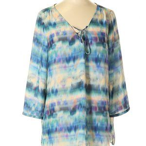 a.n.a. A New Approach Pastel Tie-Dyed Boho Tunic
